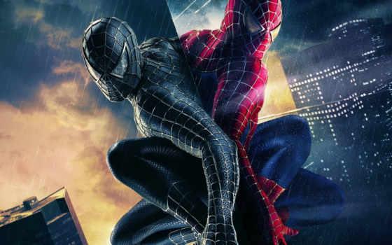 паук, man, marvel, comics, hero, venom, добрый, симбиот, красный, черный,