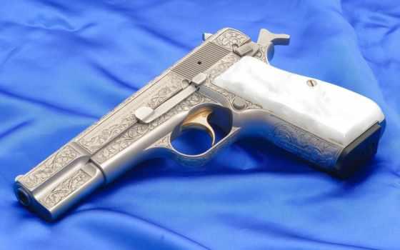 оружие, картинка, картинку, пистолет, курок, зброя, золотой, серебряный, гравировка,