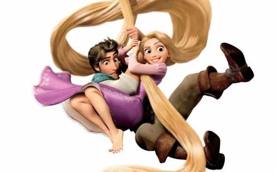 рапунцель, мультфильмы, история, запутанная, волосы, tangled,