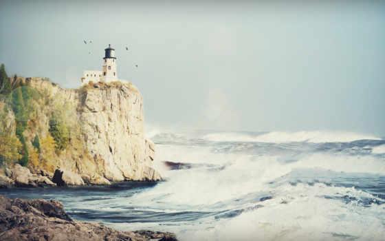 свет, rock, split, море, lighthouse,