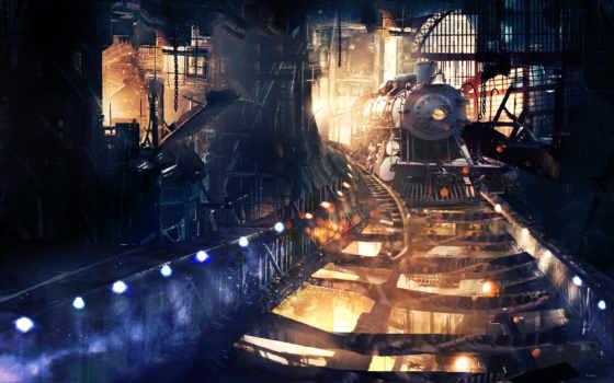 поезд, поезда, тоннеле