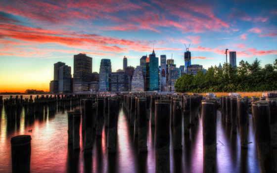 new, york, город, usa, изображение, manhattan, skyscrapers, cities,