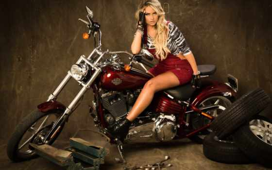 мотоцикл, плакат, art, rocche, эллен, bike, ebay, снегурочка, девушка, мотоциклы,