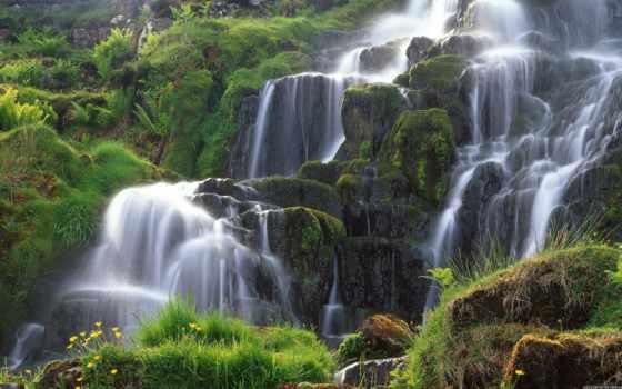 водопад, мире, самый, красивых, водопады, мира, skye, мох, красивые, красивый, остров,