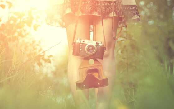 air, фотоаппарат, девушка