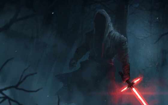 kylo, ren, star, war, lightsaber, awaken, сила, episode, getwallpaper
