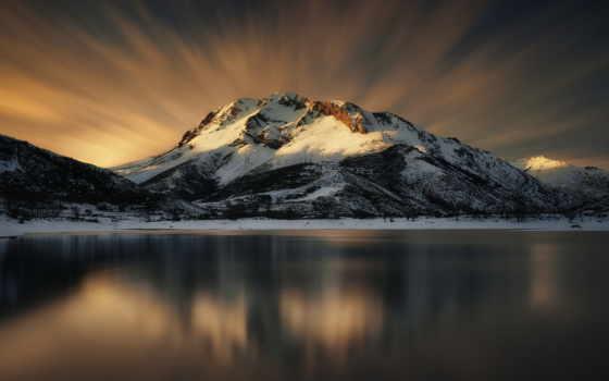 iphone, озеро, горы