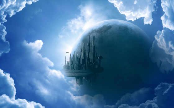 небе, castle, богатом, дорога, dome, кот, грэма, картинка, геркена, waves, favourite,