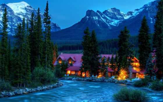 paisajes, con, montañas