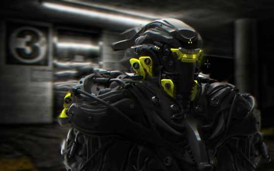фантастика, шлем, доспех, art, robot, тема, масть, that, windows,