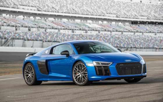 ауди, plus, суперкар, blue, car, новая, r8,