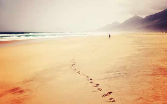море, ecran, пляж, mac, fond, ocean