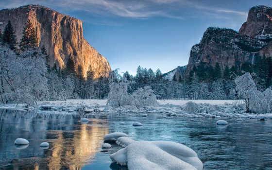 yosemite, park, winter