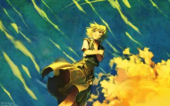 платье, ветер, небо