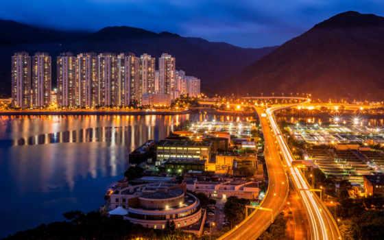 город, china, ночь