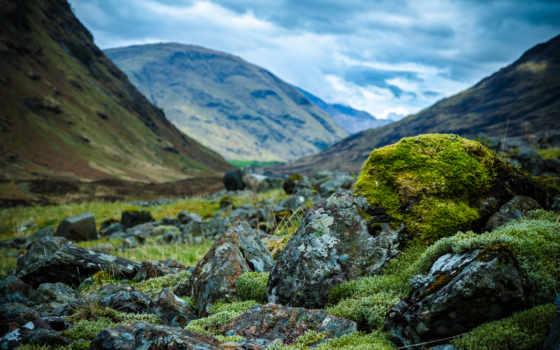 шотландия, горы, камни