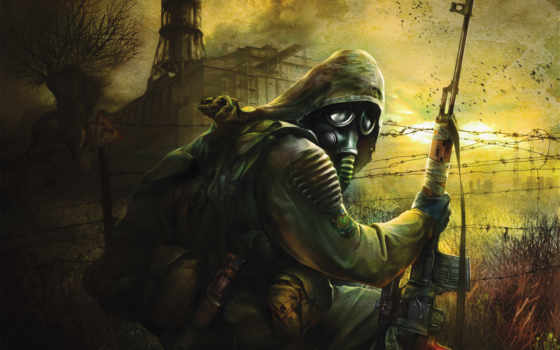 stalker, игры, маска