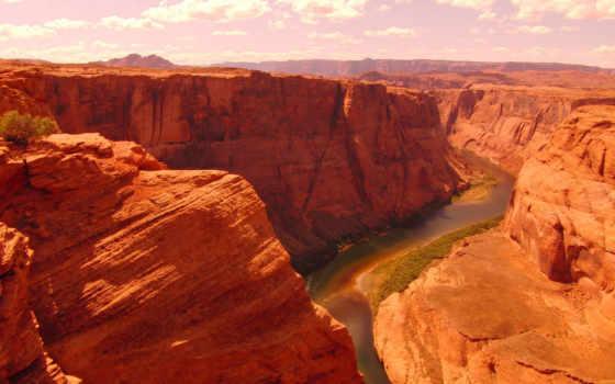 подкова, изгиб, arizona, colorado, река, природа,