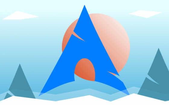 linux, арка, minimal, фон, logo, resolution,