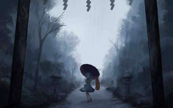 anim, game, дождь, loneliness, тематика, color, popularity, random, место, dark, под
