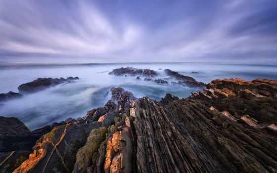 природа, море, категория, совершенно, берег, камни, небо, марта, летнее, скалистый, скалы,