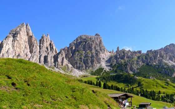 горы, italian, trentino, природа, pass, картинка, пейзажи -, самых,