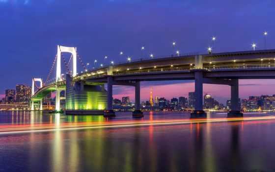 japanese, tokio, столица, мегаполис, мост, разрешения, высокого, япония, мосты, tokyo,