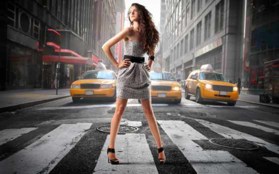 коллекция, улица, изображение, город, fashion