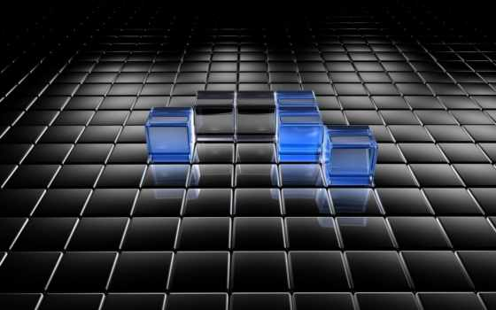 graph, blue, black, abstract, квадраты,