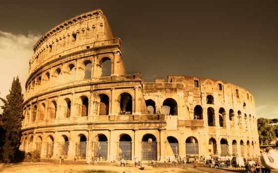рим, старинный, колизей