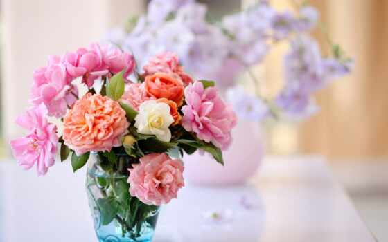 букет, цветы, ваза