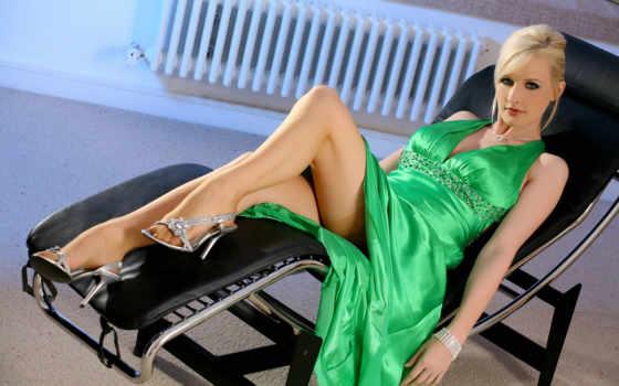 devushki, платье, зеленом, мишель, банка, marsh,