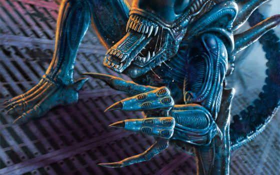 хищник, aliens, против, чужие, хищника, игры, alien, game, art, работ,