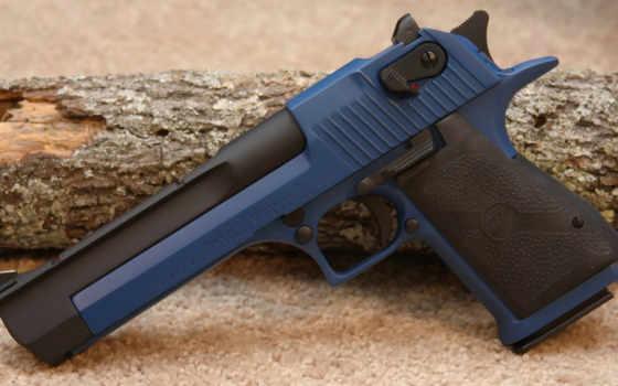 пустыня, орлан, пистолет, blue,