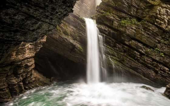 водопад, скалы, harmony, live,