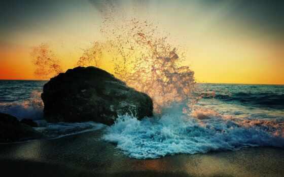 волна, abkar, песнь, idris, рамочка, ocean, побережье, оформление, formatı