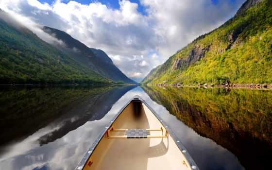 озеро, пароль, облака