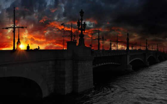 санкт, петербург, мост