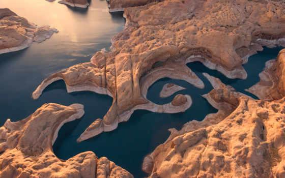 mike, reyfman, озеро, powell, earth, каньон, hieroglyphs, usa,