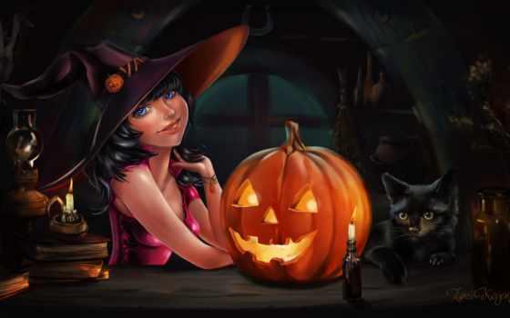halloween, праздник, art, тыква, тыквы, девушка,