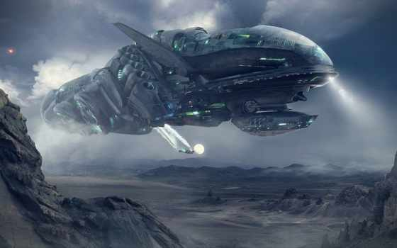 planet, корабль, горы, cosmic, start, cosmos,
