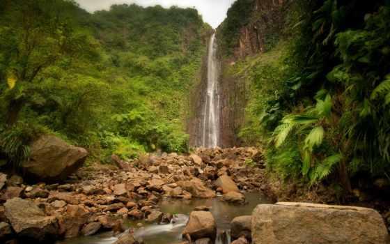 водопад, falls, carbet, фотографий, collector, красивых, мар, река, джунглях, ярких,