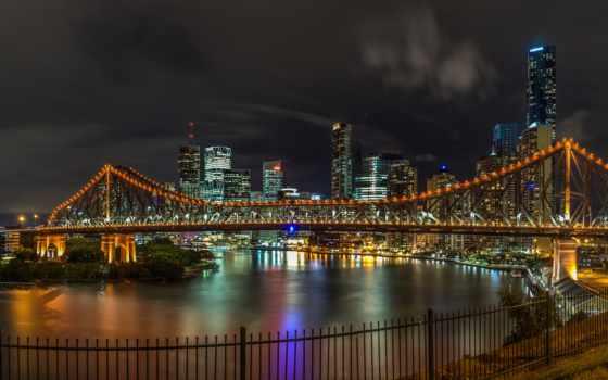 brisbane, австралия, мост