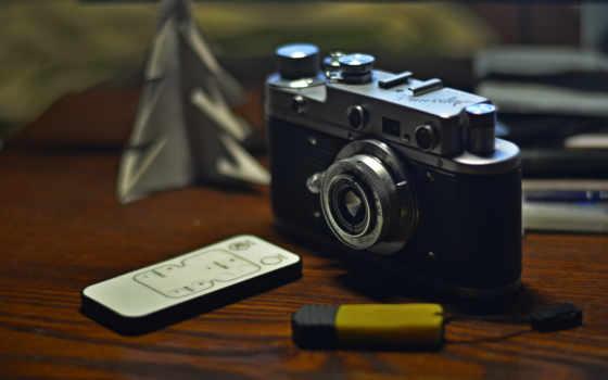 camera, old, flashdisk, remote control
