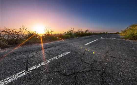 дорога, дороги, за, закат, ul, landscape, алаколь, мне,