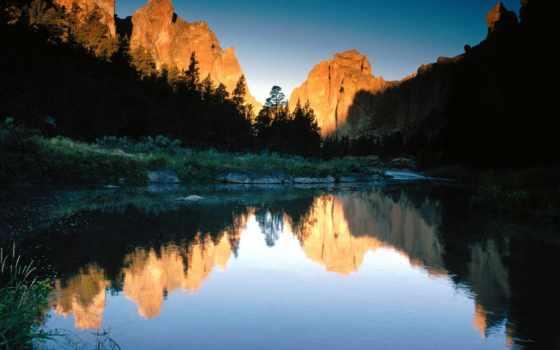 oregon, осень, park, state, смит, rock, природа, reflections, пасть,