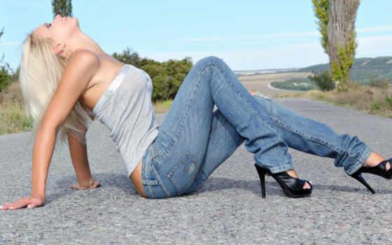 джинсы, девушка, туфли
