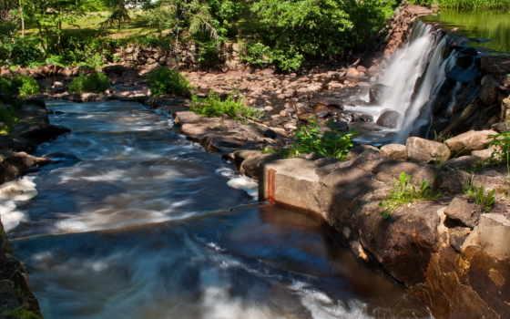 водопады, природа, sweden