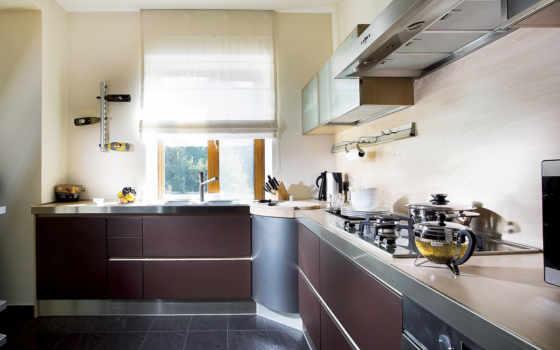 кухни, окном, kitchen