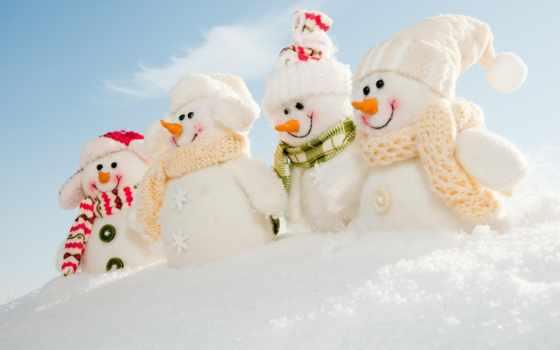 снеговик, новый год, winter, new, год, снег, красивый